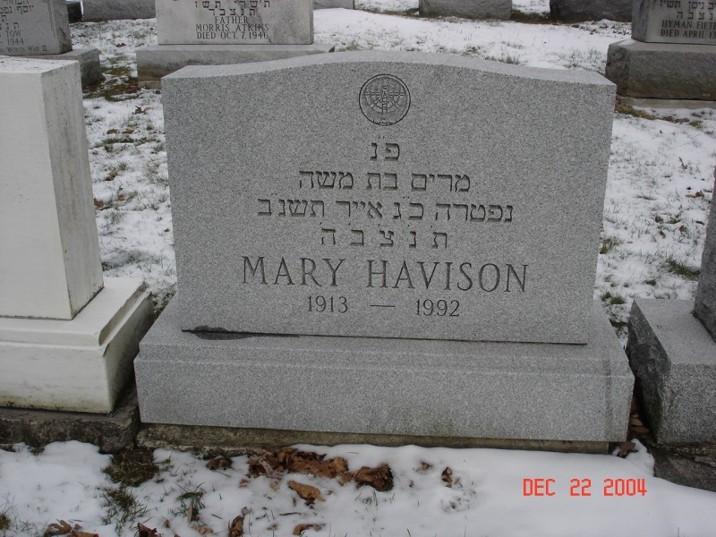Havison, Mary ; Miriam bat Moshe; Need more information
